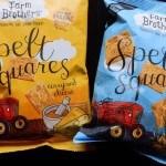 Test: Spelt Squares, zoutjes van spelt van Farm Brothers geproefd