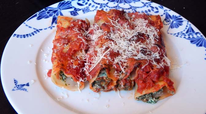 Recept cannelloni tomaat spinazie ricotta
