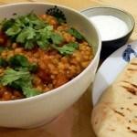 Recept curry met linzen en zoete aardappel #meatfreemonday