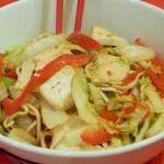 Recept noedels met Chinese kool en tofu #meatfreemonday