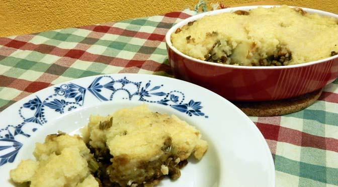Recept herfstige ovenschotel met aardappelpuree