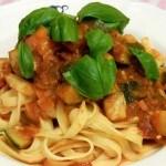 Recept pasta met courgette en chilipeper #meatfreemonday