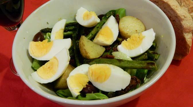 Recept salade aardappel en asperge