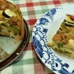 Recept hartige taart met asperge en courgette #meatfreemonday