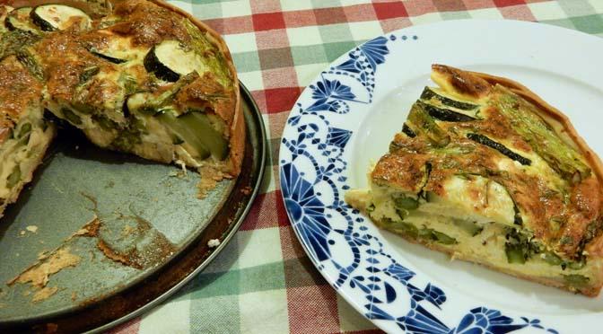 Recept taart met groene asperge en courgette