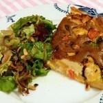 Recept taart met paprika en schimmelkaas #meatfreemonday