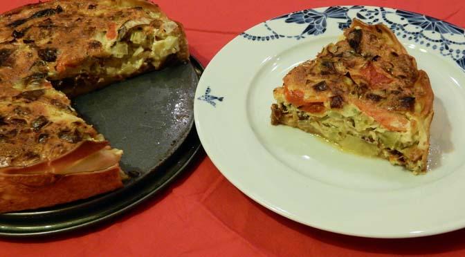 Recept taart prei geitenkaas