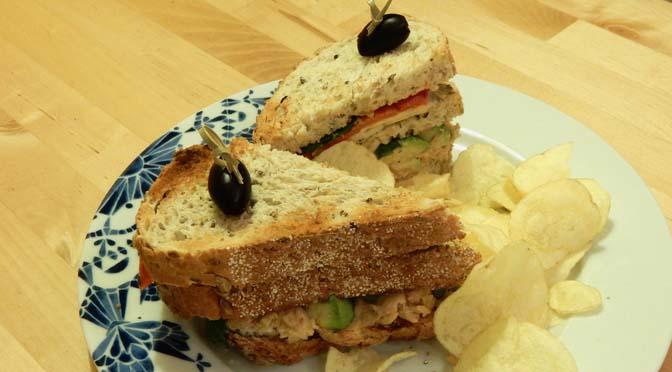 Recept vegetarische clubsandwich