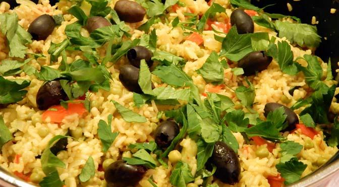 Recept vegetarische paella