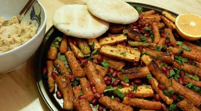 Recept wortels met pita en humus