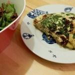 Recept zomerse omelet met groente en kruiden #meatfreemonday