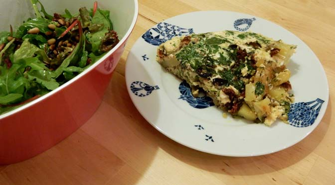 Recept zomerse omelet