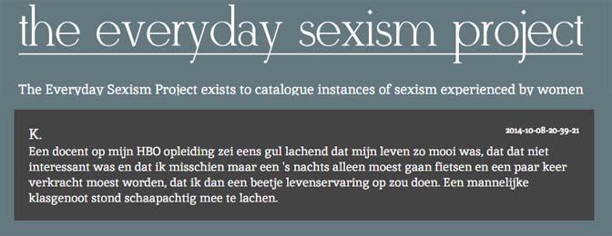 Voorbeeld everyday sexism