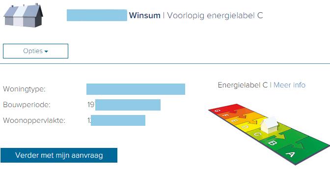 Voorlopig Energielabel indicatie kadaster - C