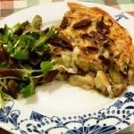 Recept hartige taart met prei en paddenstoelen #meatfreemonday