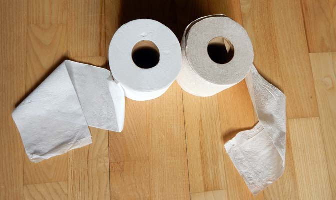 100% eco wc-papier rollen
