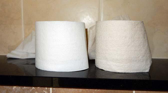 Groen toiletpapier