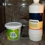 Combi-magnetron schoonmaken met groene zeep en ammonia werkt!
