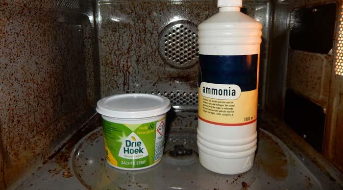 Magnetron schoonmaken ammoniak