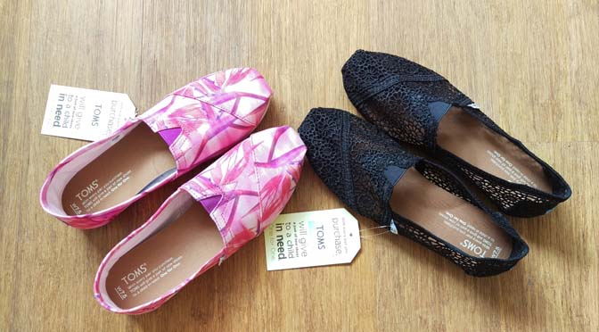 Hoera, TOMS One for One collectie schoenen nu grotendeels vegan!