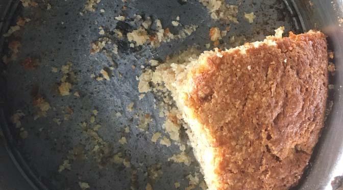 Wie wat bewaart heeft wat: bananencake met banaan uit de vriezer