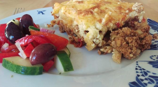 Recept vegetarische pastitsio: Griekse pasta uit de oven